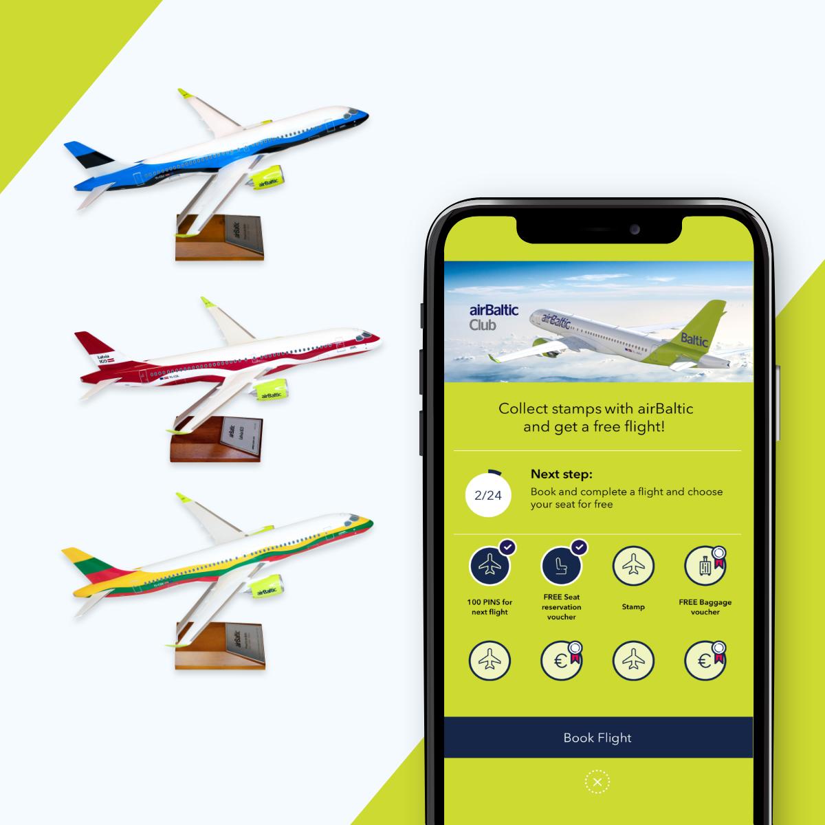 Начните собирать печати airBaltic Club и выиграйте эксклюзивную модель самолета! image