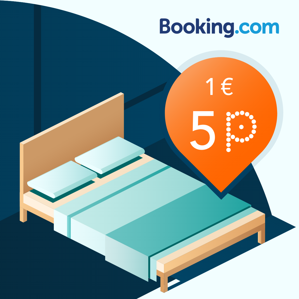 Book on Booking.com/pins and earn 5 PINS/EUR! image