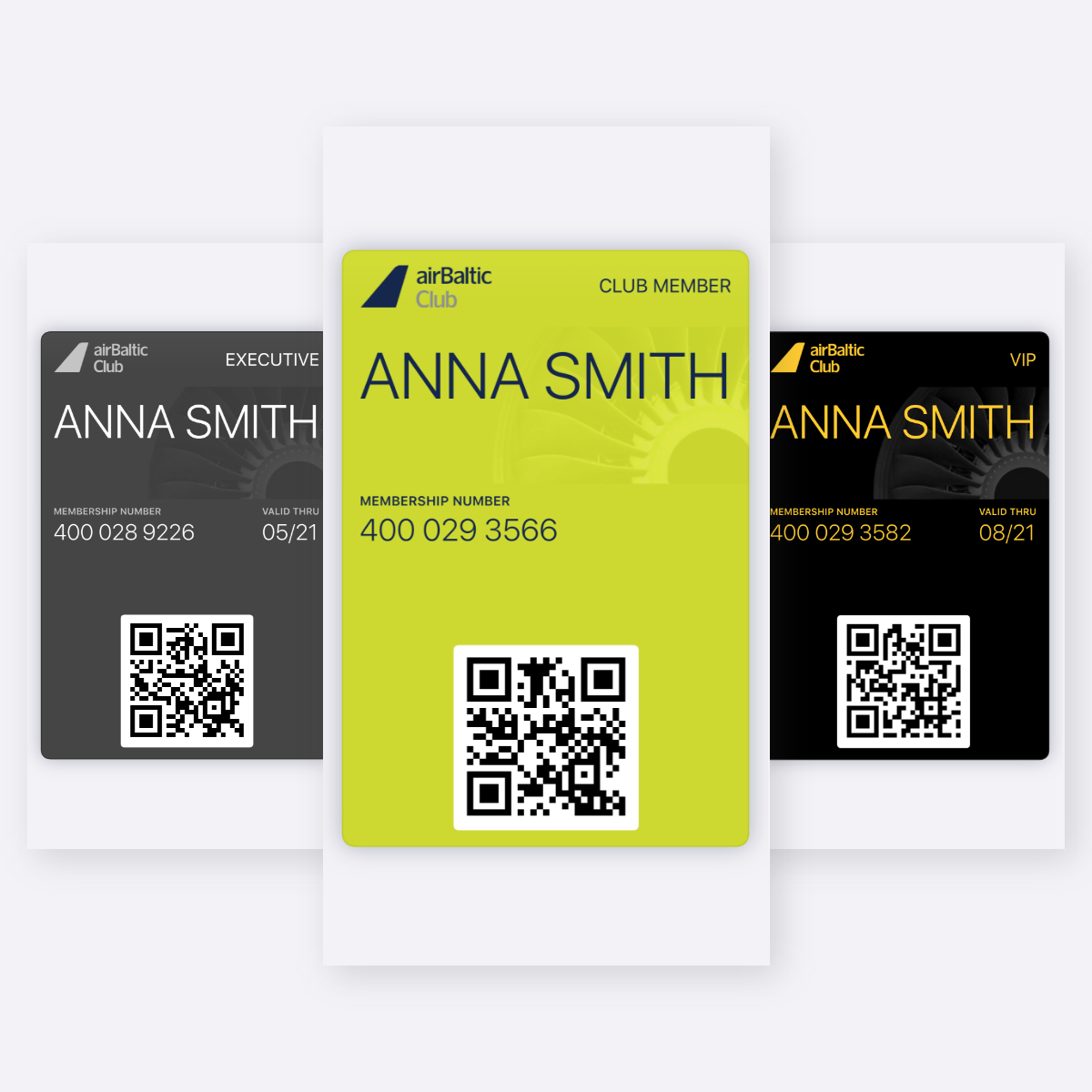 Introducing the new digital airBaltic Club cards image