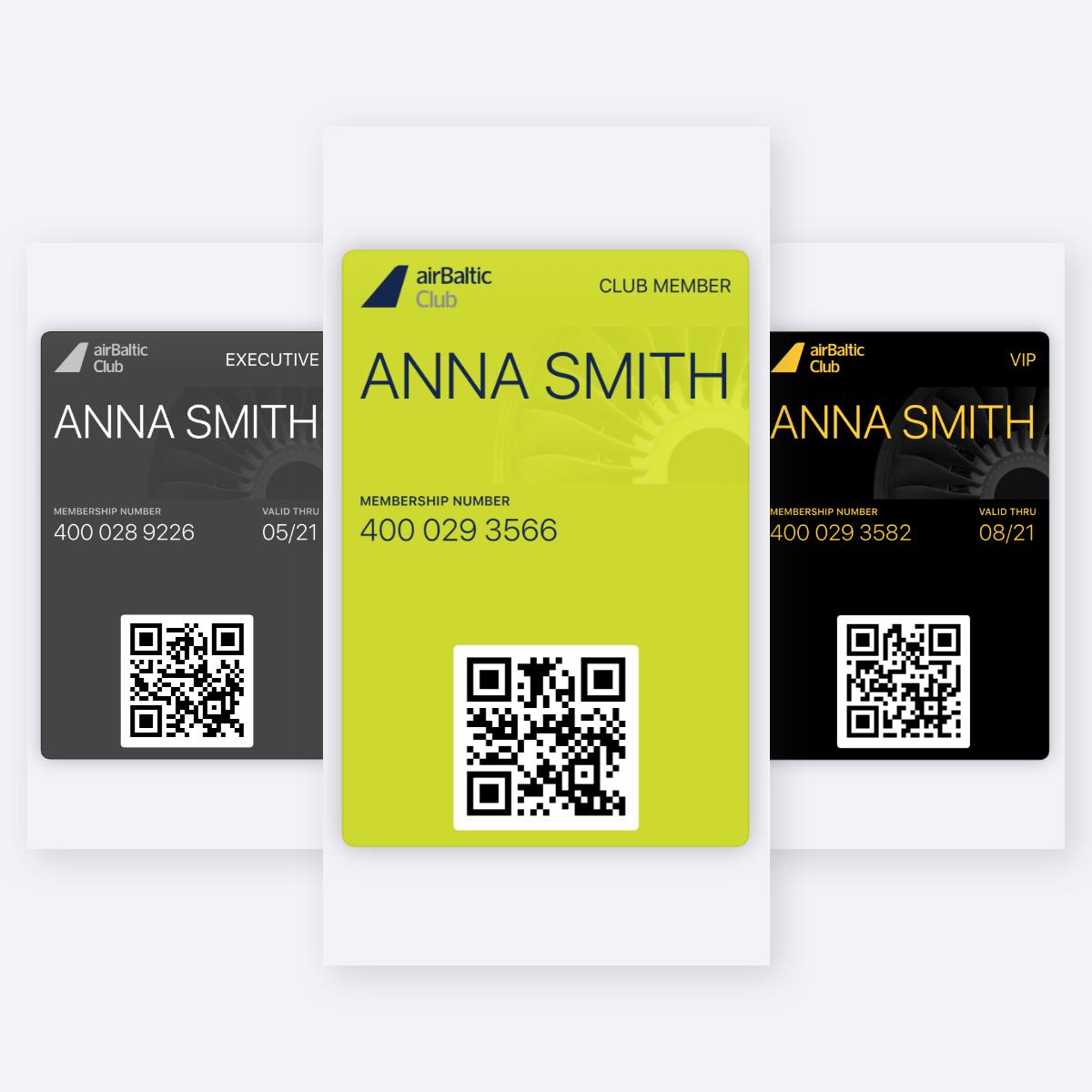 Esittelemme uudet airBaltic Clubin digitaaliset kortit image