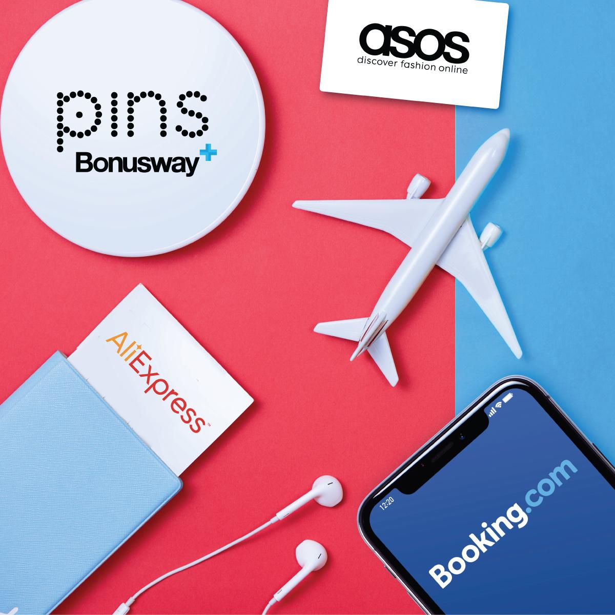 Резервируйте гостиницу или совершайте покупки онлайн через PINS Bonusway и получайте PINS image