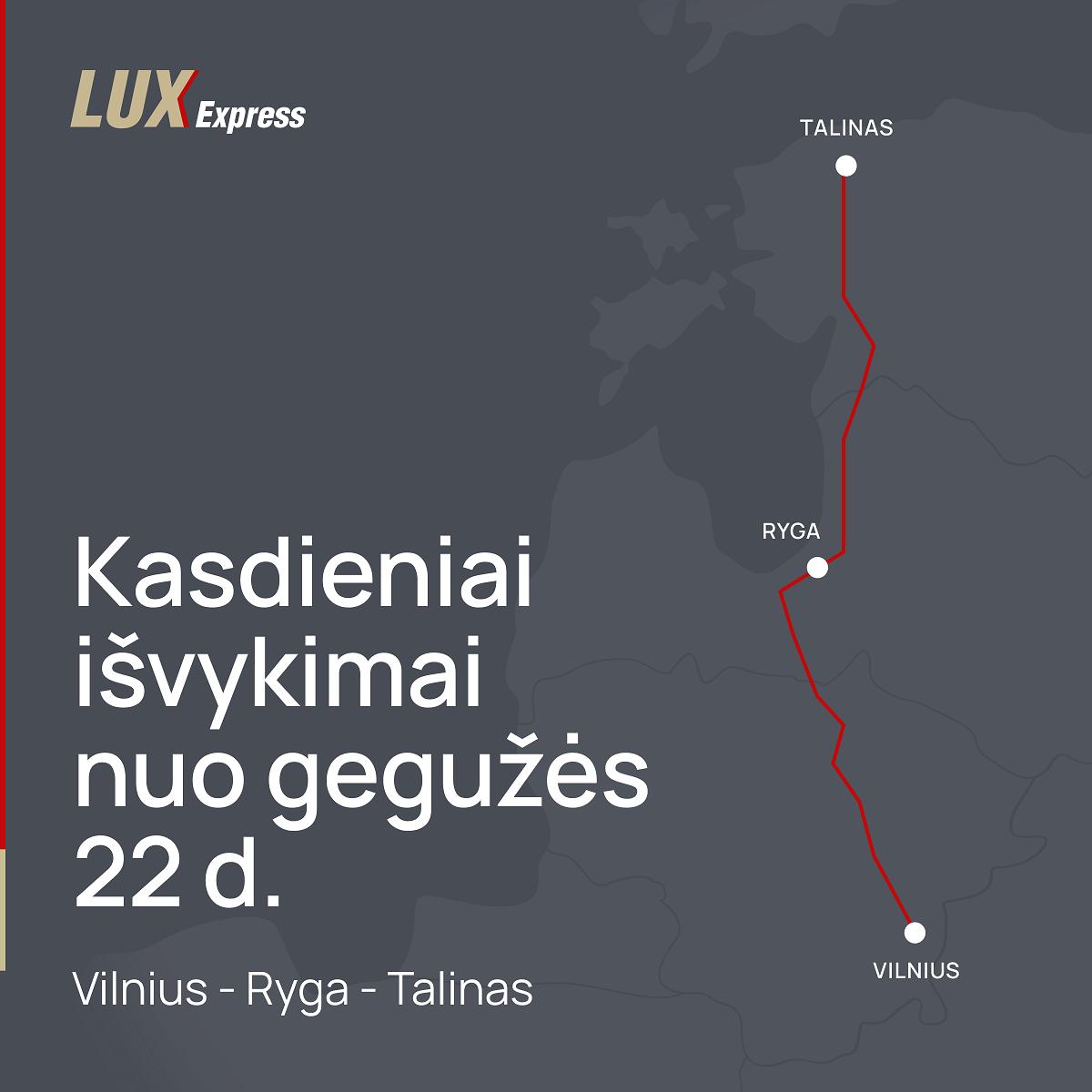 Lux Express Baltic maršrutai yra atnaujinti. image