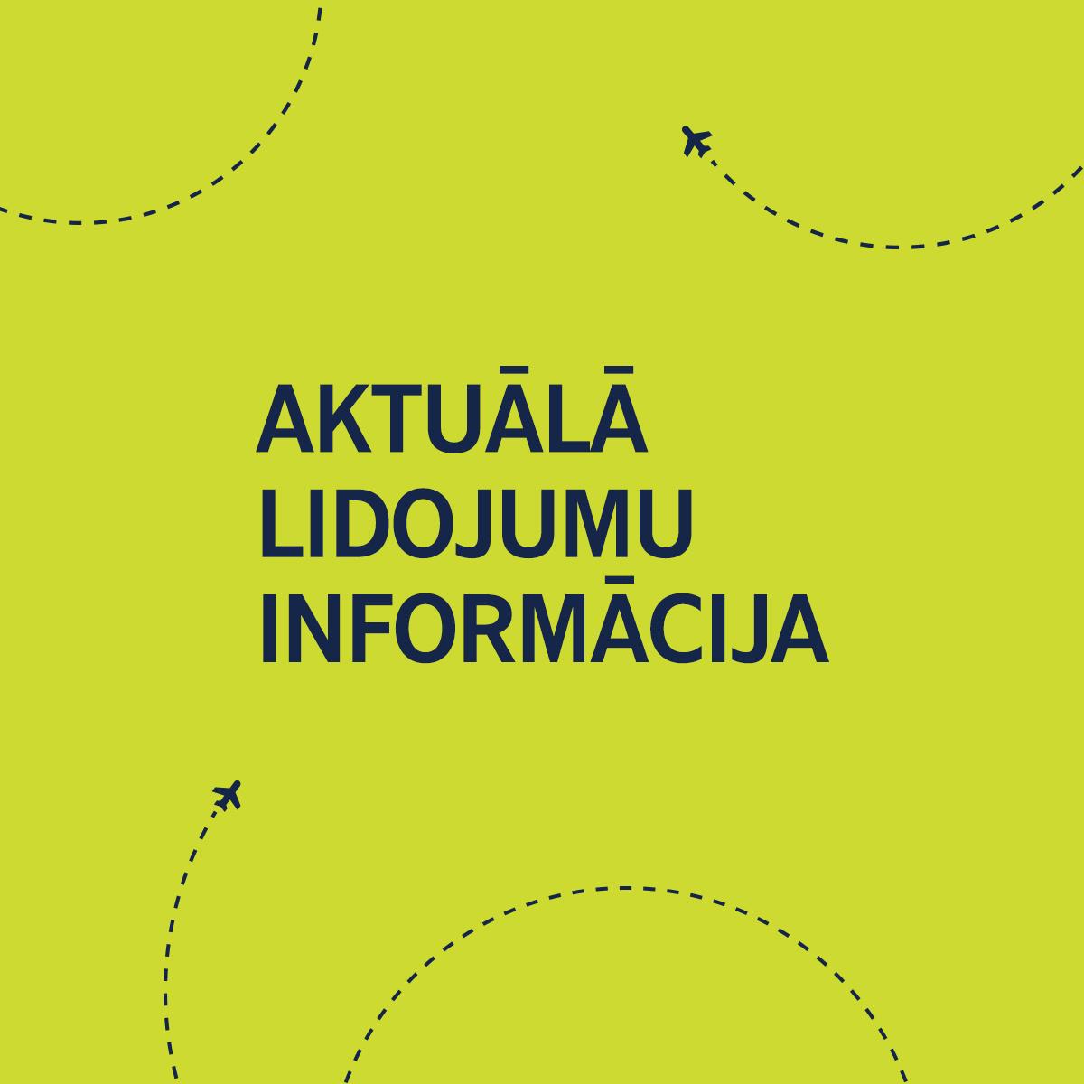 Aktuālā airBaltic lidojumu informācija image