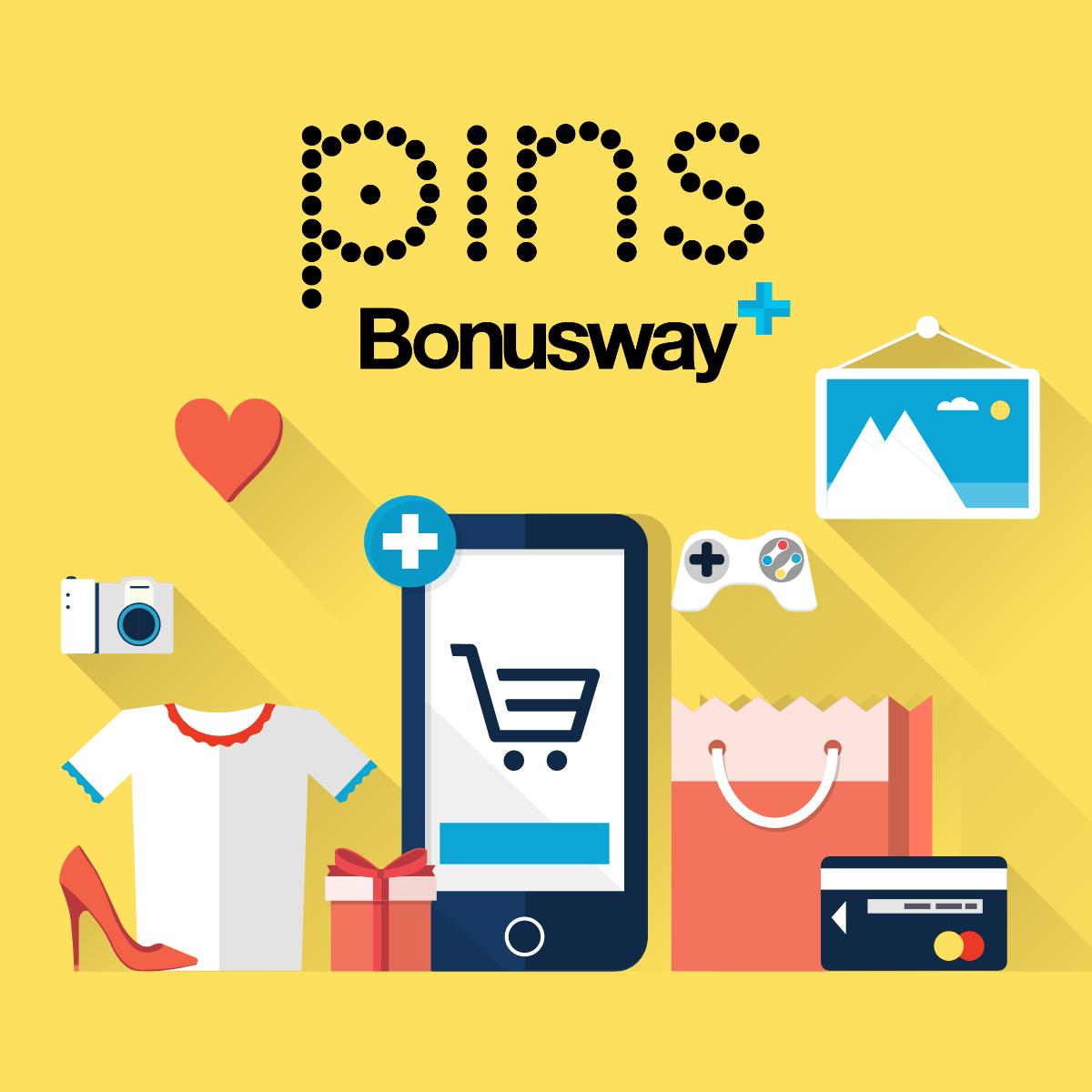 Совершай покупки онлайн и получай PINS! image