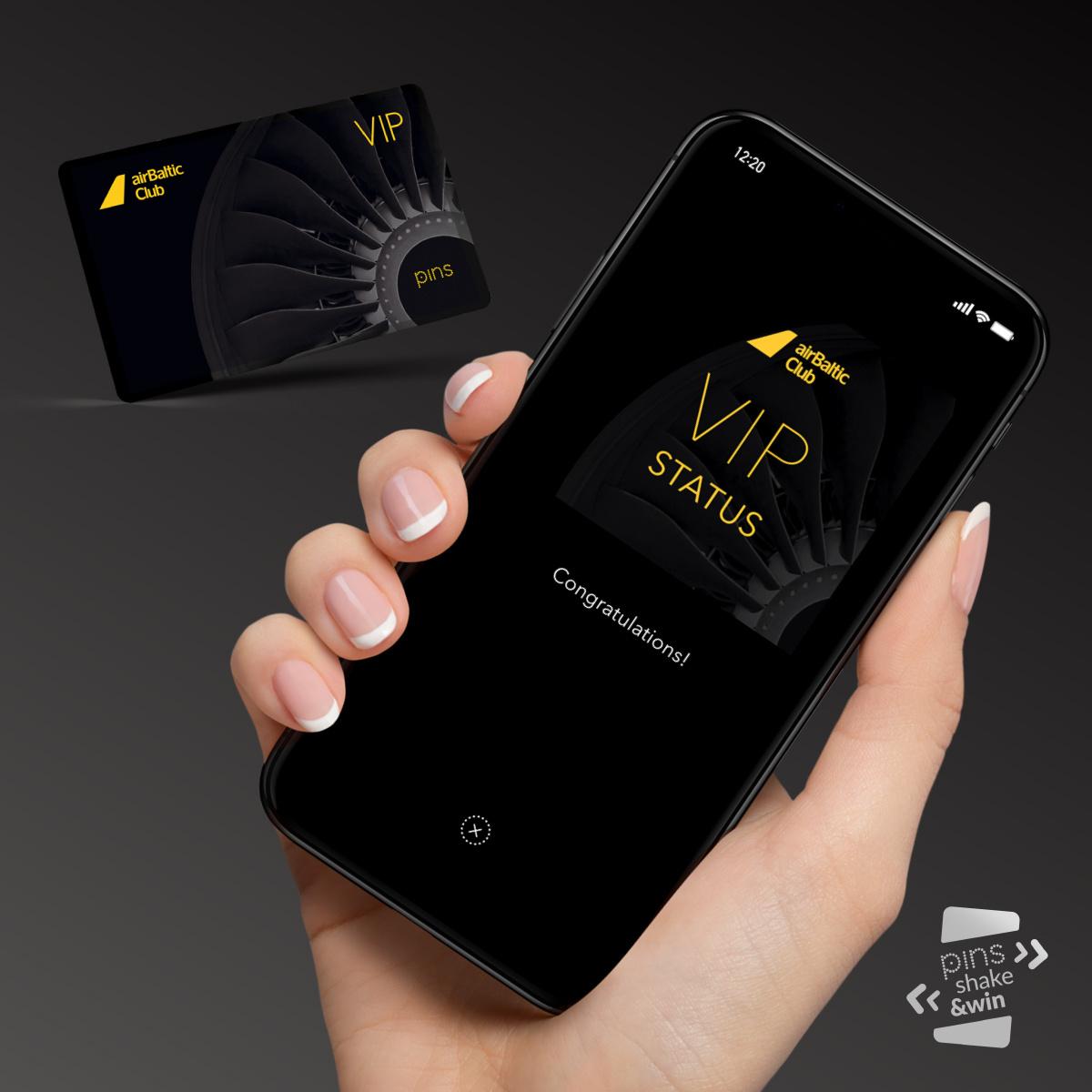 Participate in airBaltic Club Shake&Win and win VIP status image
