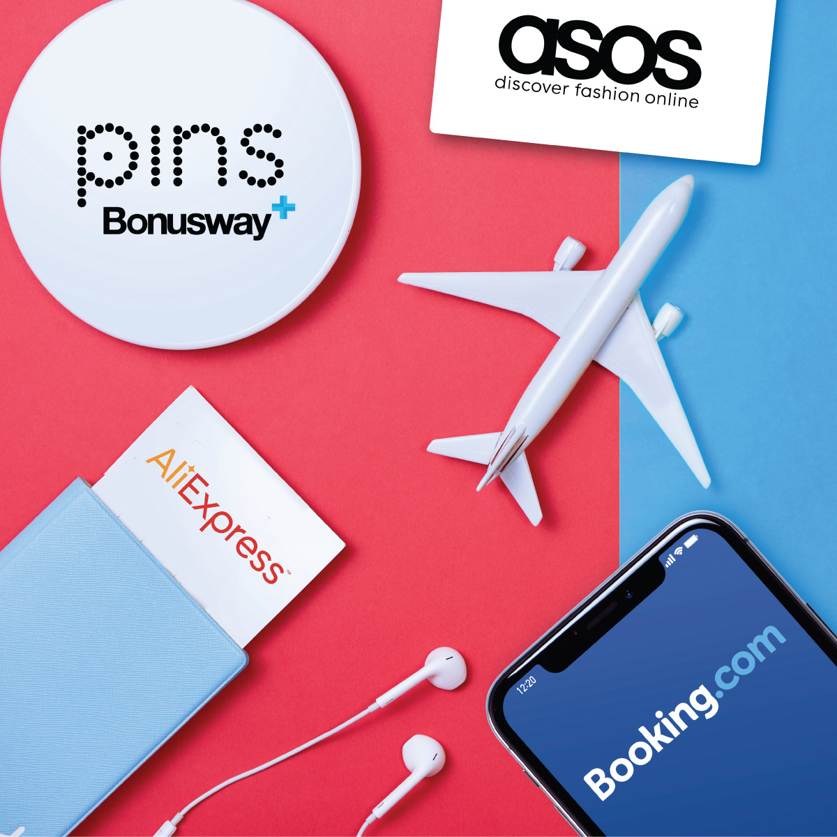 Book hotels or shop online through PINS Bonusway and earn PINS image