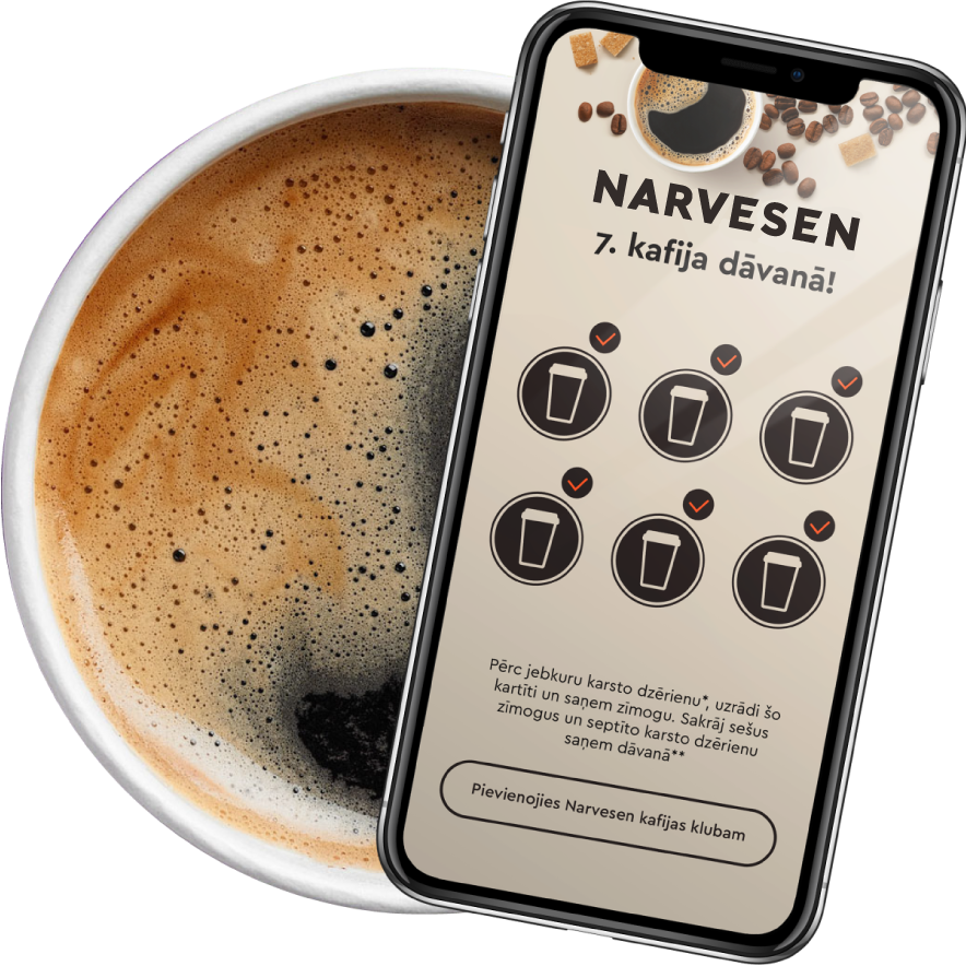 7th Narvesen coffee for free - now in PINS app!