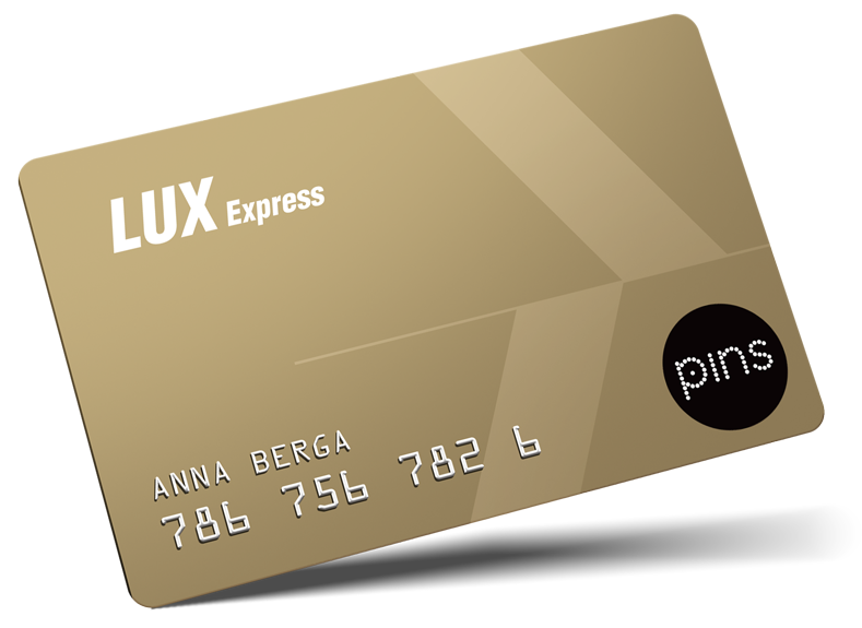 Welcome to Lux Express PINS loyalty program